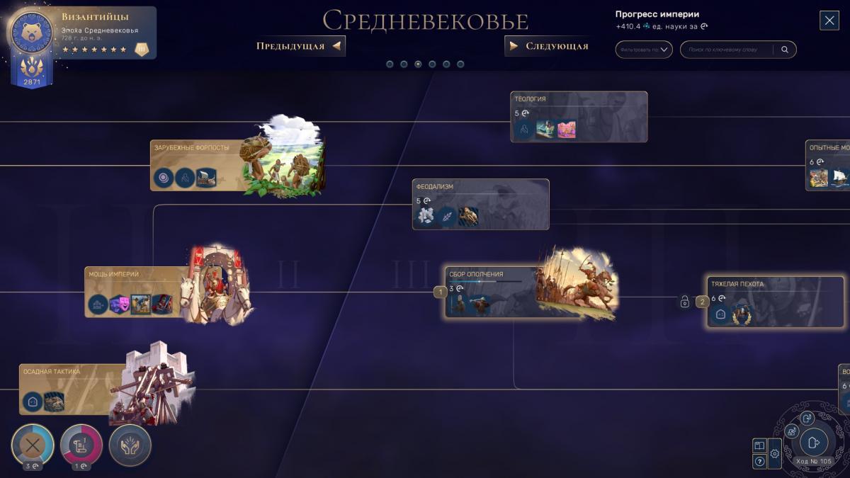 Дерево технологій рясніє можливостями, які може отримати гравець / скріншот