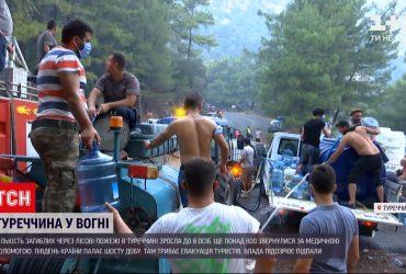 В Турции из-за лесных пожаров восемь человек погибли, более восьмисот получили травмы