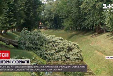 По центральной Хорватии пронесся сильный шторм - без кровли осталась церковь и школа