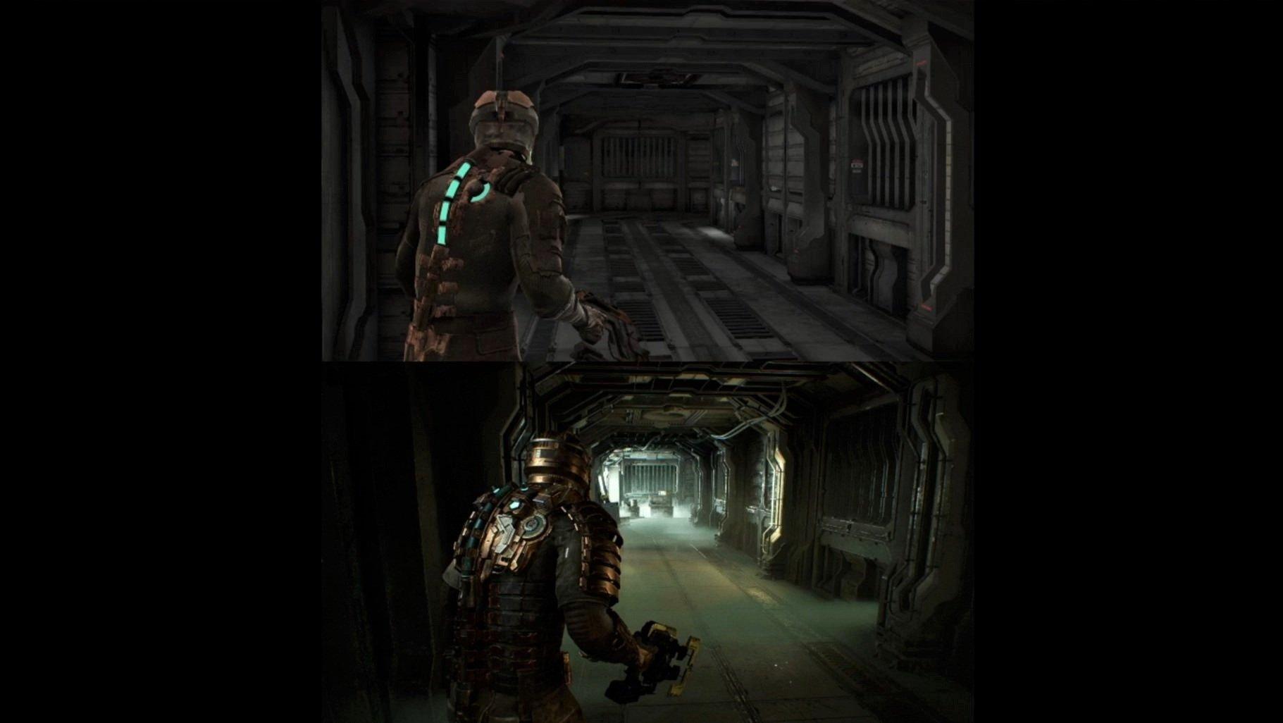 Сверху оригинальная игра, снизу – ремейк /скриншот