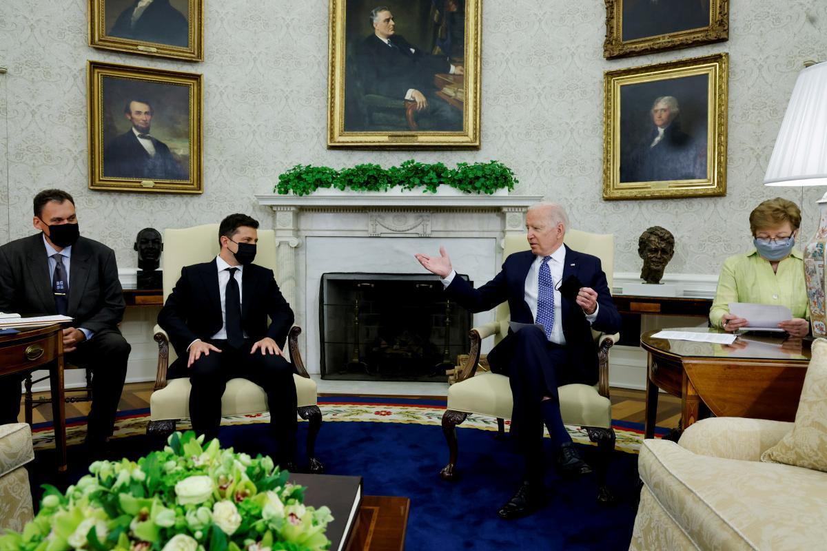 Встреча Зеленского и Байдена в Белом доме / фото REUTERS