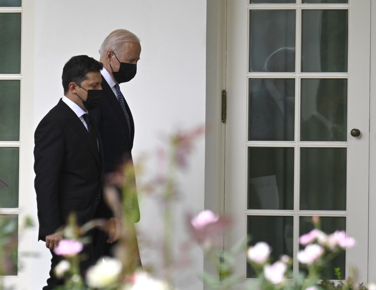 Зеленский и Байден во время визита украинского президента в США / фото ОП