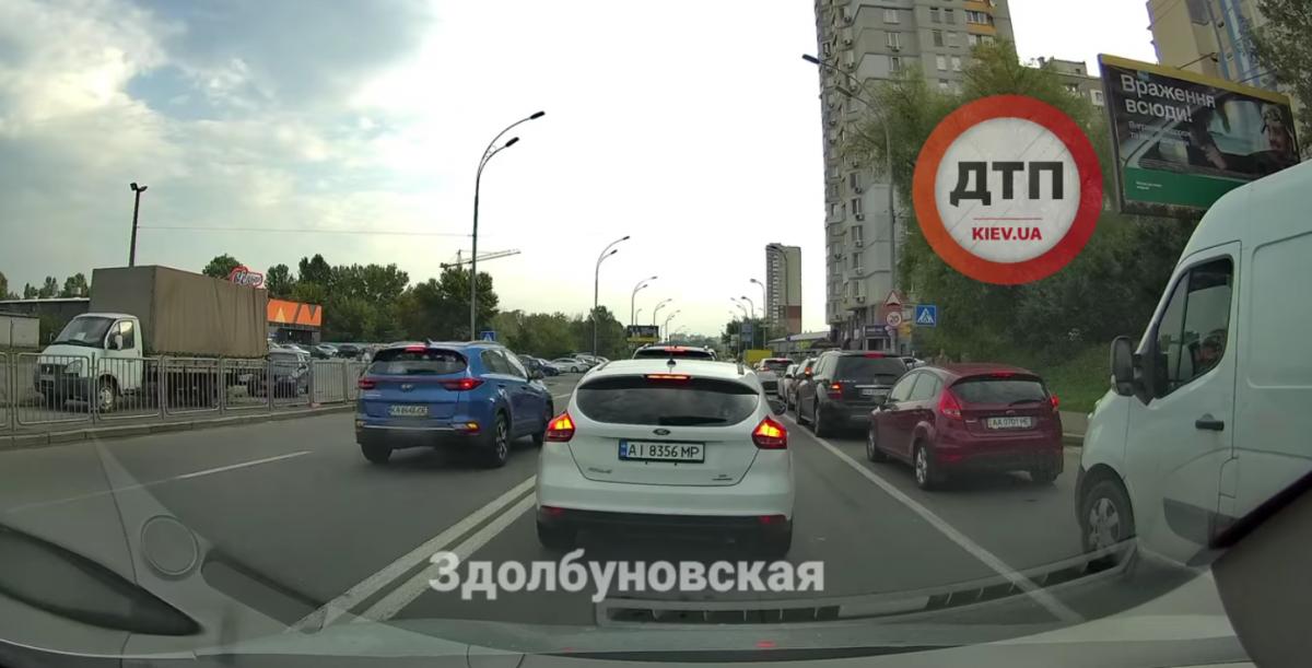 Грубе порушення ПДР водіями потрапило на відео / скріншот відео