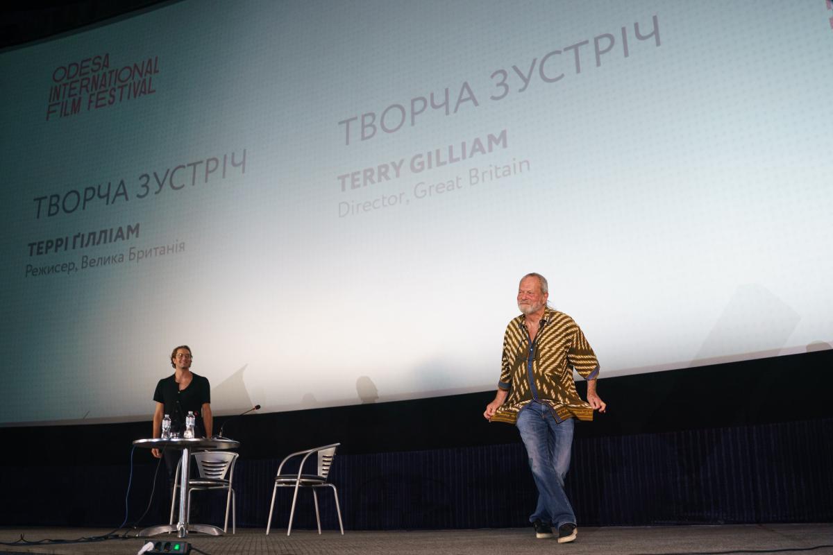 В Одесі пройшла творча зустріч з Террі Гілліамом / фото oiff.com.ua