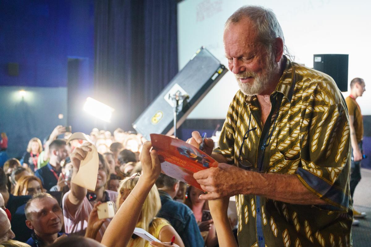 Террі Гілліам став справжньою зіркою на ОМКФ / фото oiff.com.ua