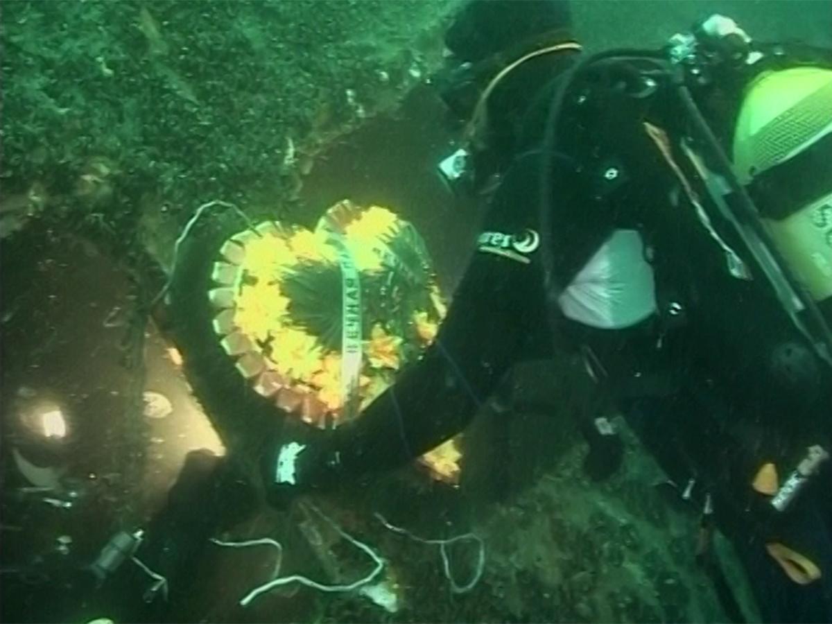 """""""Admiral Nakhimov"""" lies at a depth of 47 meters in Tsemes Bay / screenshot """"Kuban 24"""""""