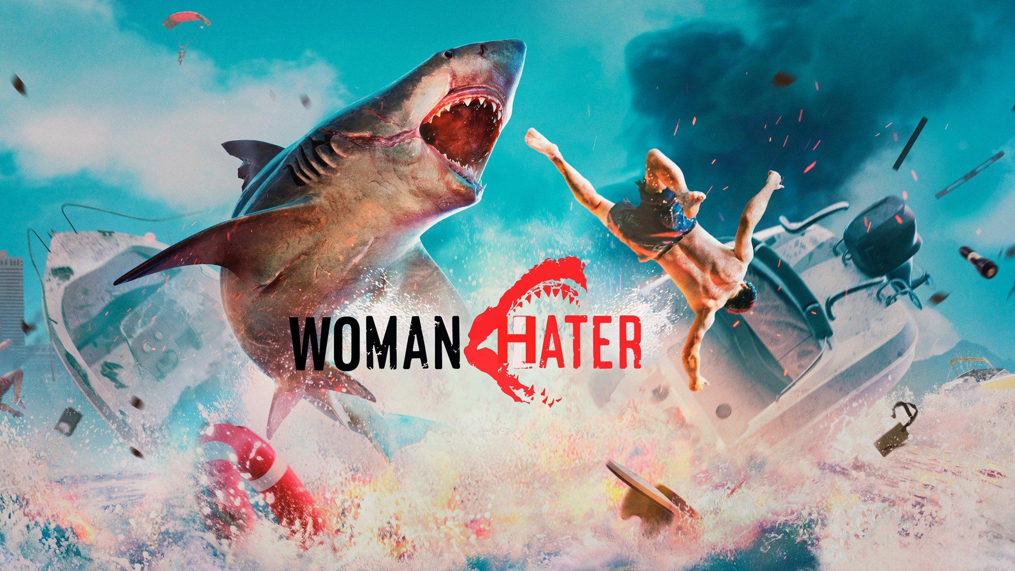 Так критики Гибсона обыграли название игры Maneater /фото twitter.com/NewWombat