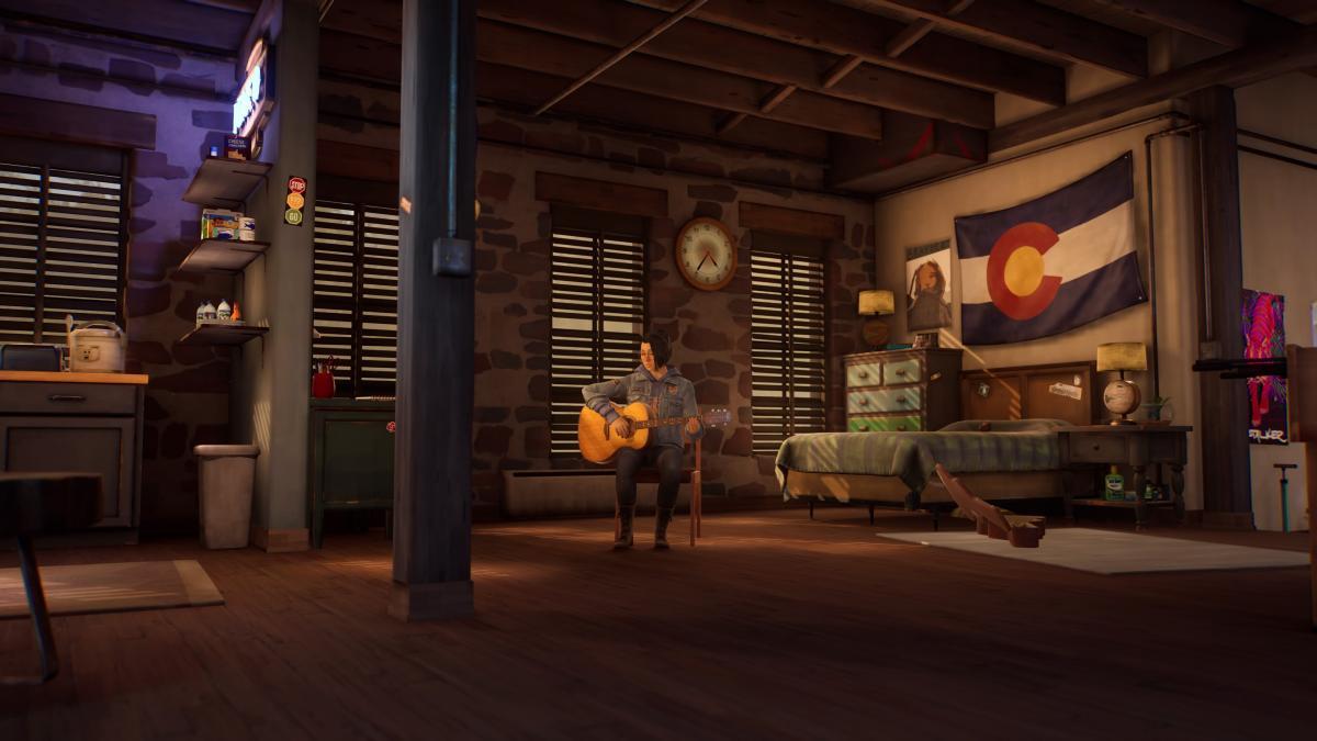 Radiohead в исполнении Алекс - это волшебно, да и в целом с музыкой в игре все прекрасно / скриншот