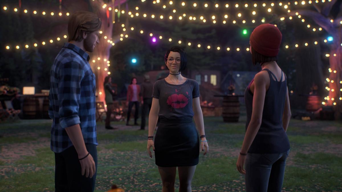 Алекс по центру, а по бокам ее друзья - Райан и Стеф / скриншот