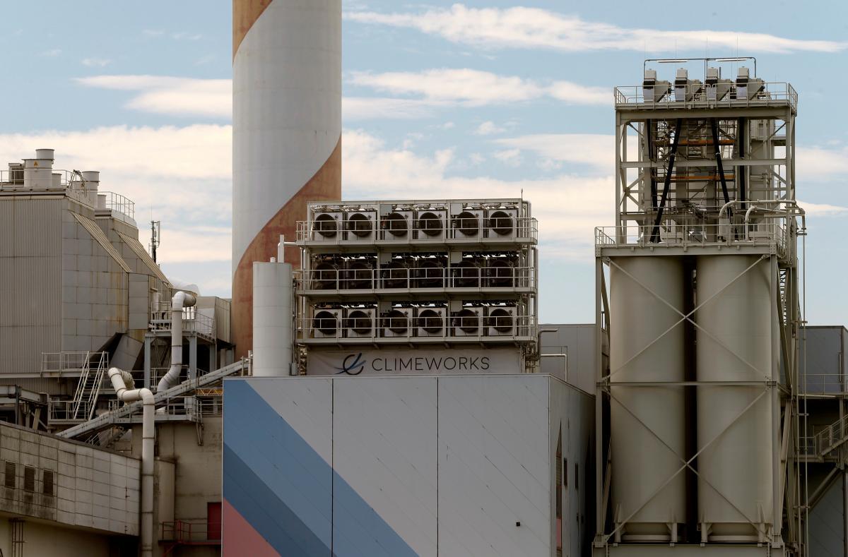 Завод по откачке CO2 компании Climeworks в Швейцарии / фото REUTERS