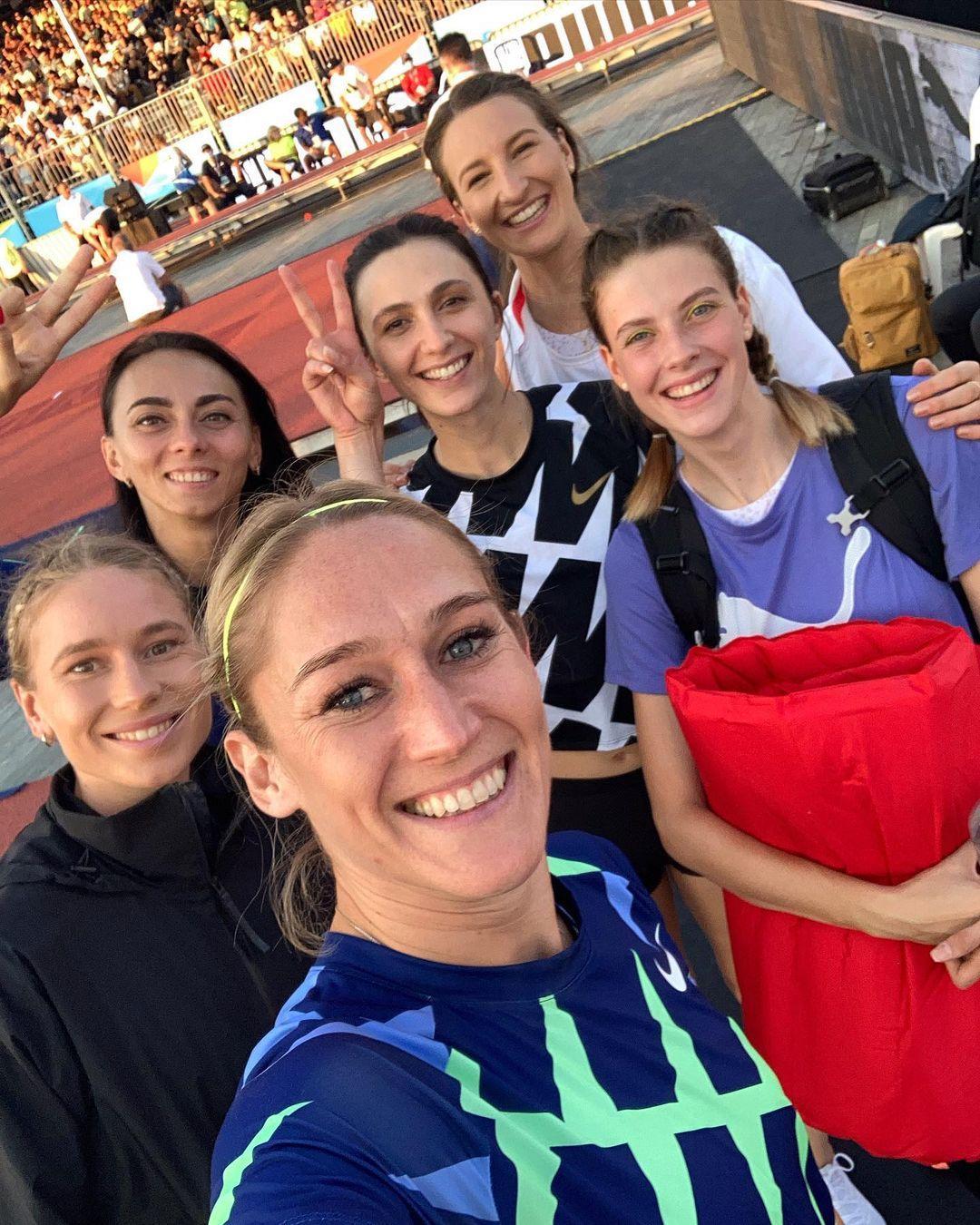 Фото Магучіх та Геращенко з росіянками та іншими спортсменками / instagram.com/eleanorpatterson