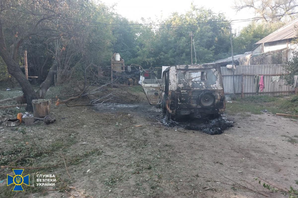 Под вражеский огонь попали следователи СБУ, пострадавших нет / фото: СБУ