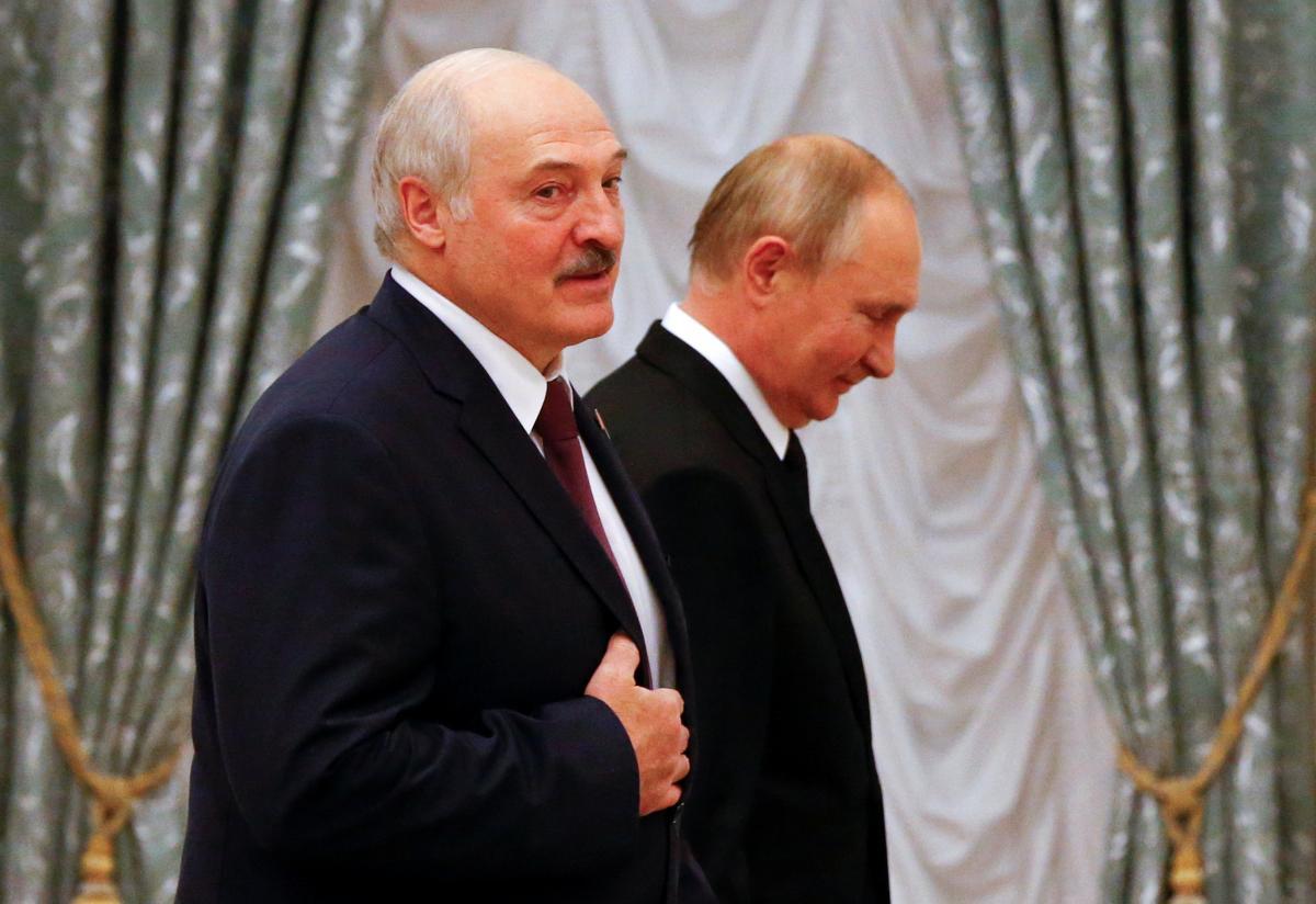 Александр Лукашенко и Владимир Путин / фото REUTERS