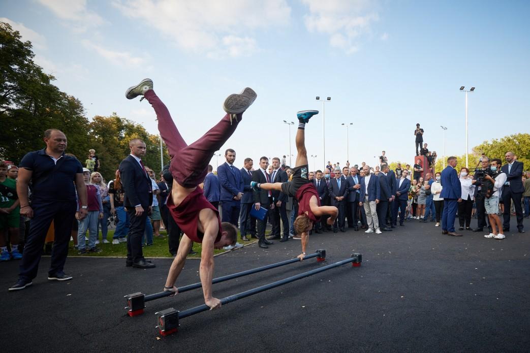 У Києві відкрився сучасний урбан-парк \ president.gov.ua