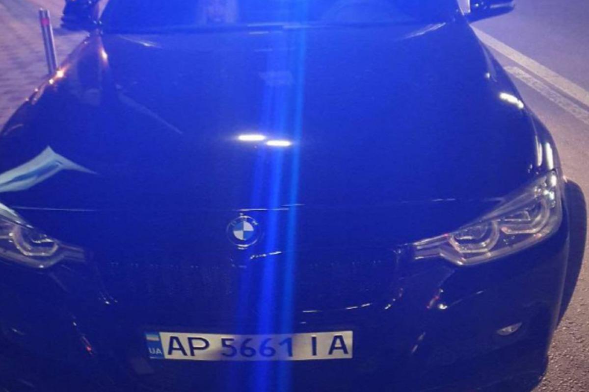У Києві копи ганялися за авто BMW / фото t.me/KyivOperativ