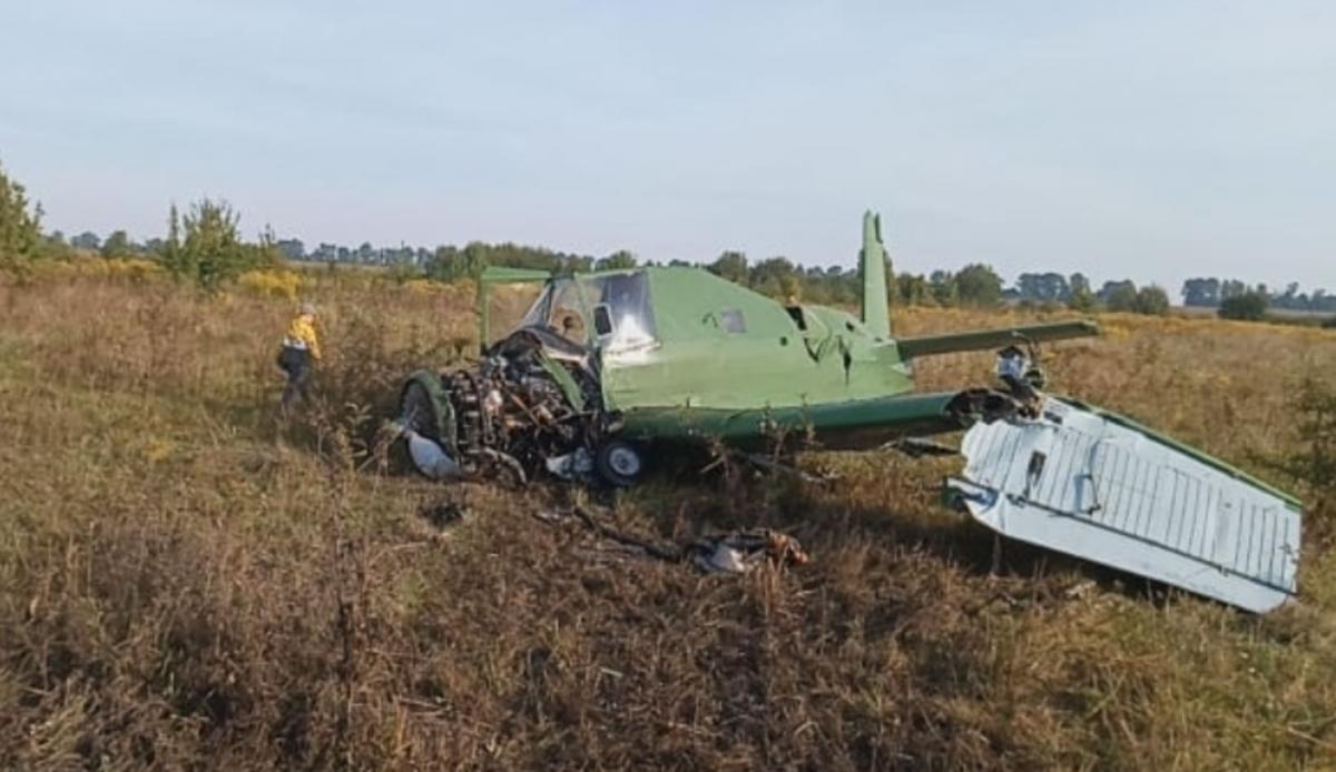 На Житомирщині впав літак / фото zhitomir.info