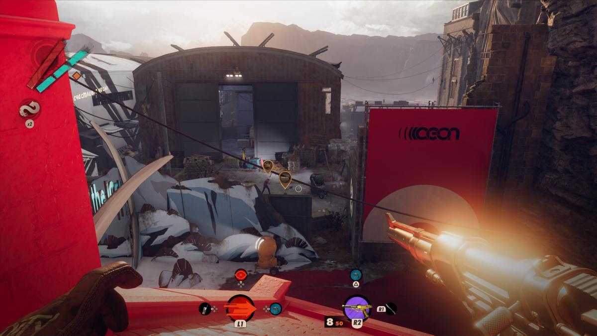 Значки над головами врагов обозначают их состояние - желтый показывает, что начаты поиски Кольта / скриншот
