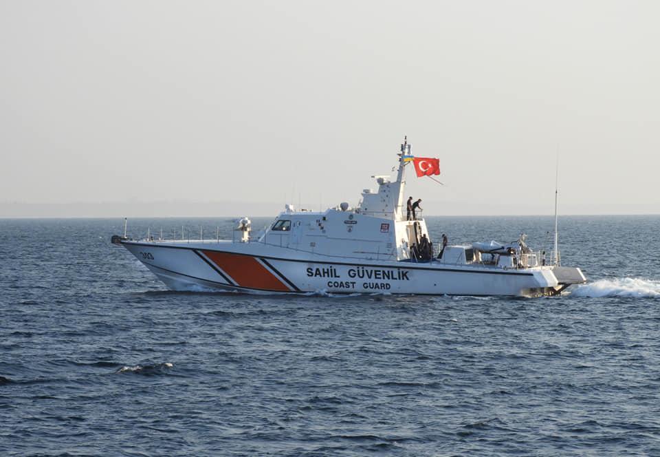 Катер Береговой охраны Турции прибыл в Одессу / фото Facebook Морская охрана Госпогранслужбы Украины