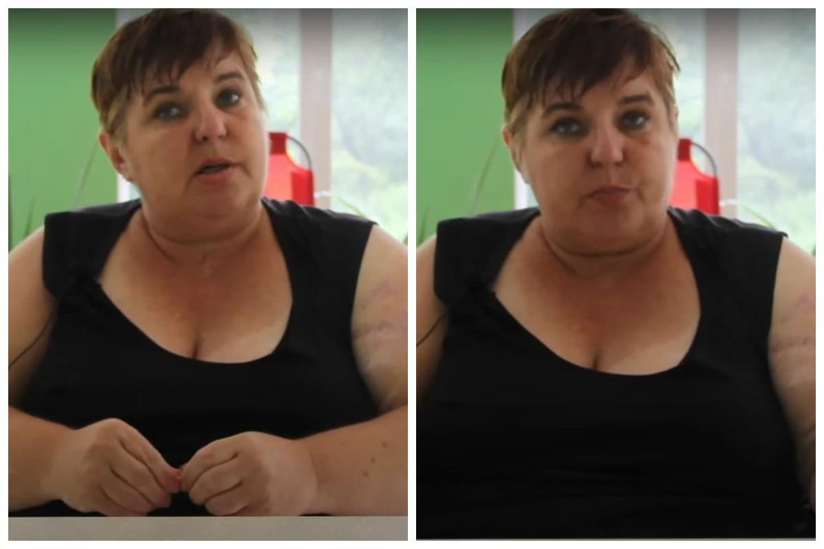 """Говорячи про """"звірства"""" військових, жінка помітно нервувала і плуталася в думках / скріншот з відео"""
