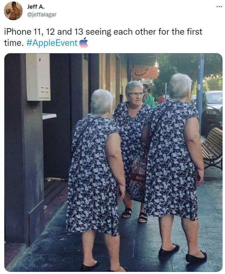 """""""Перша зустріч iPhone 11, 12 і 13"""" / фото з соцмереж"""