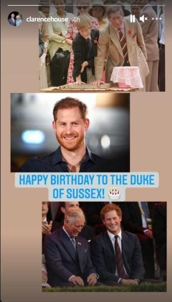 Привітання принца Гаррі від батька принца Чарльза / скрін instagram.com/clarencehouse/