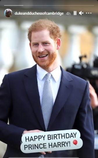 Привітання принцу Гаррі від принца Вільяма та Кейт / скрін instagram.com/dukeandduchessofcambridge