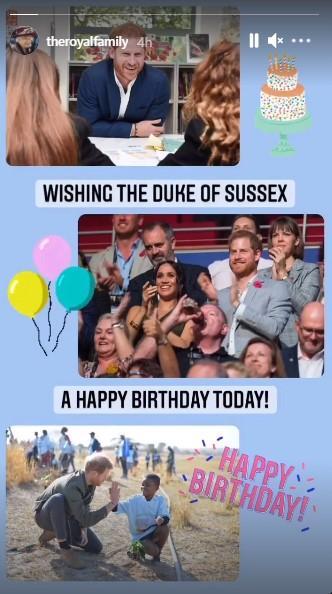 Привітання принца Гаррі на сторінці королеви Єлизавети ІІ / скрін instagram.com/theroyalfamily/