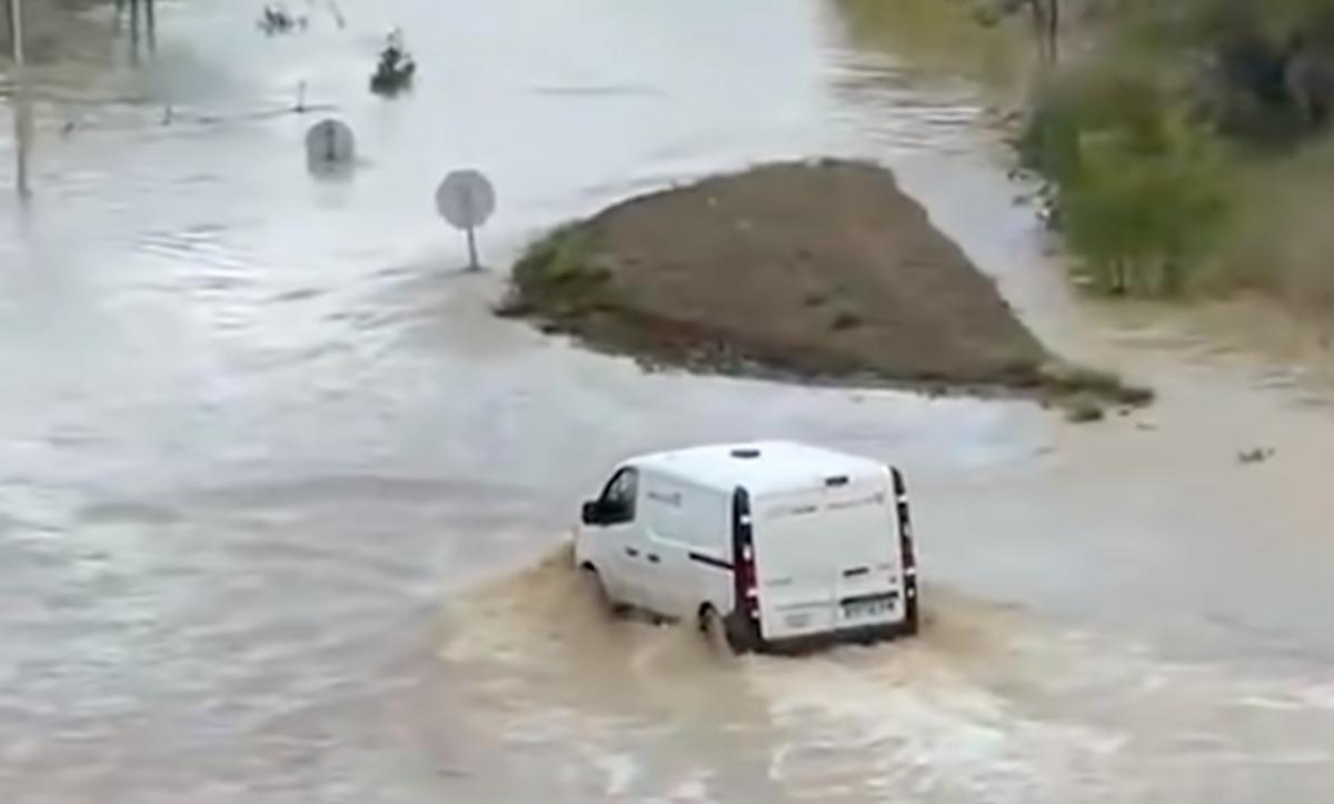 Во Франции после дождей начались наводнения / скриншот видео