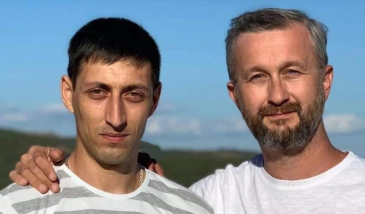 Асан Ахтемов слева / фото Крымская солидарность