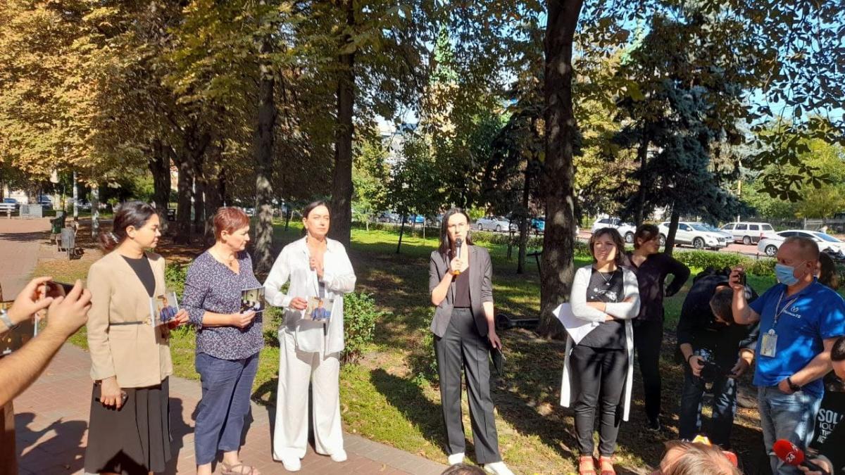 В столицівідбулася акція пам'яті журналіста Георгія Гонгадзе / фото УНІАН/Дмитро Хилюк
