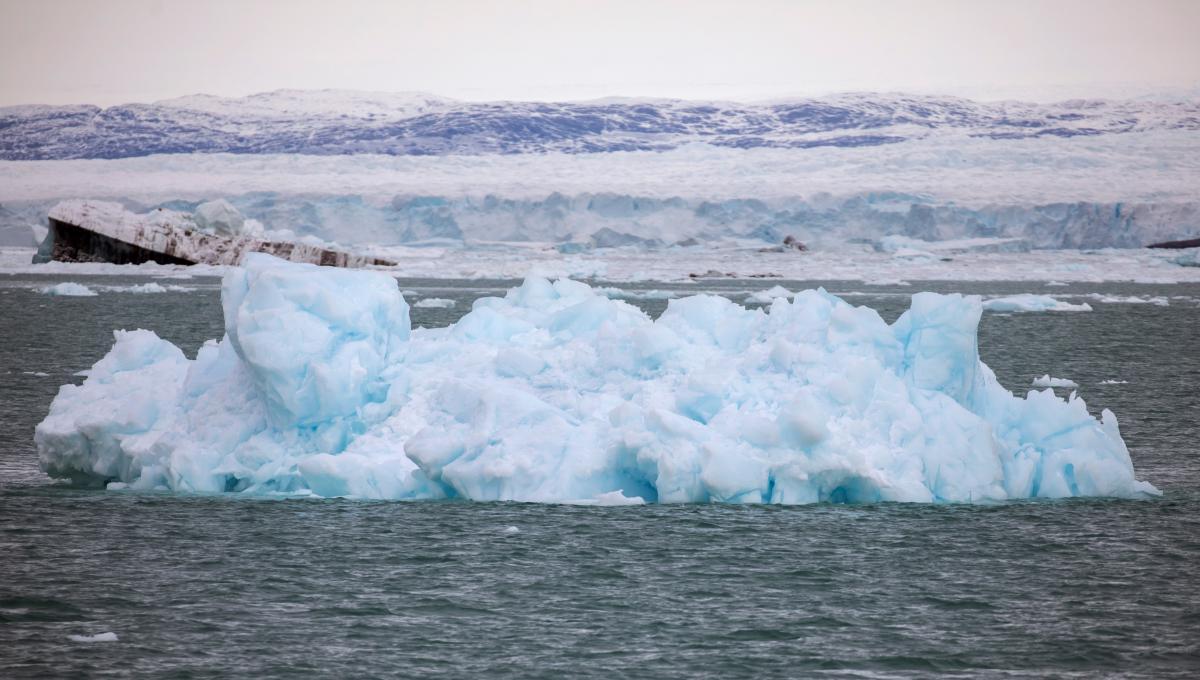 Брила льоду, що відкололася від льодовика Екі / фото REUTERS