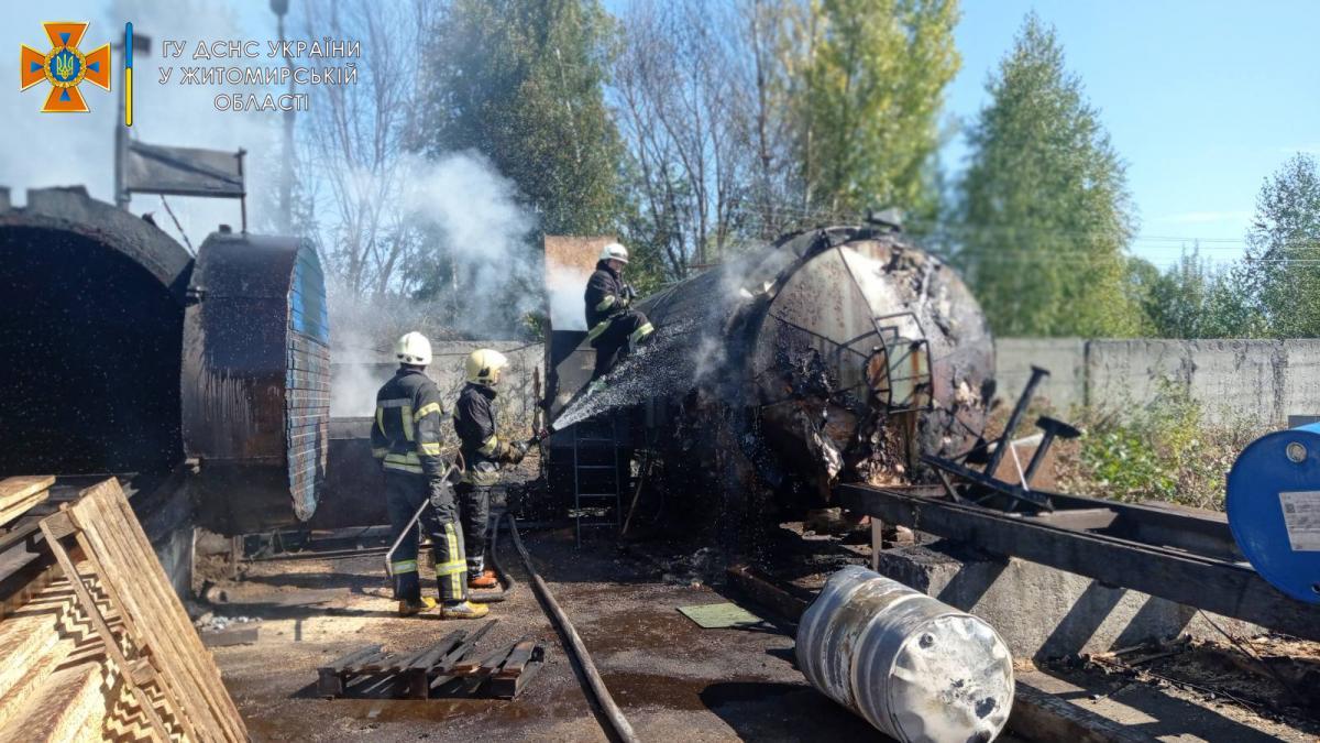 На предприятии в Житомире произошел пожар / ГСЧС