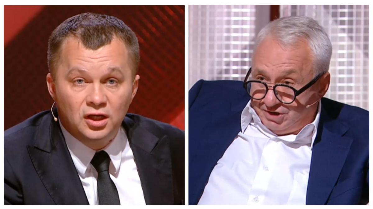 Перепалка Мілованова і Кучеренко в прямому ефірі / колаж УНІАН