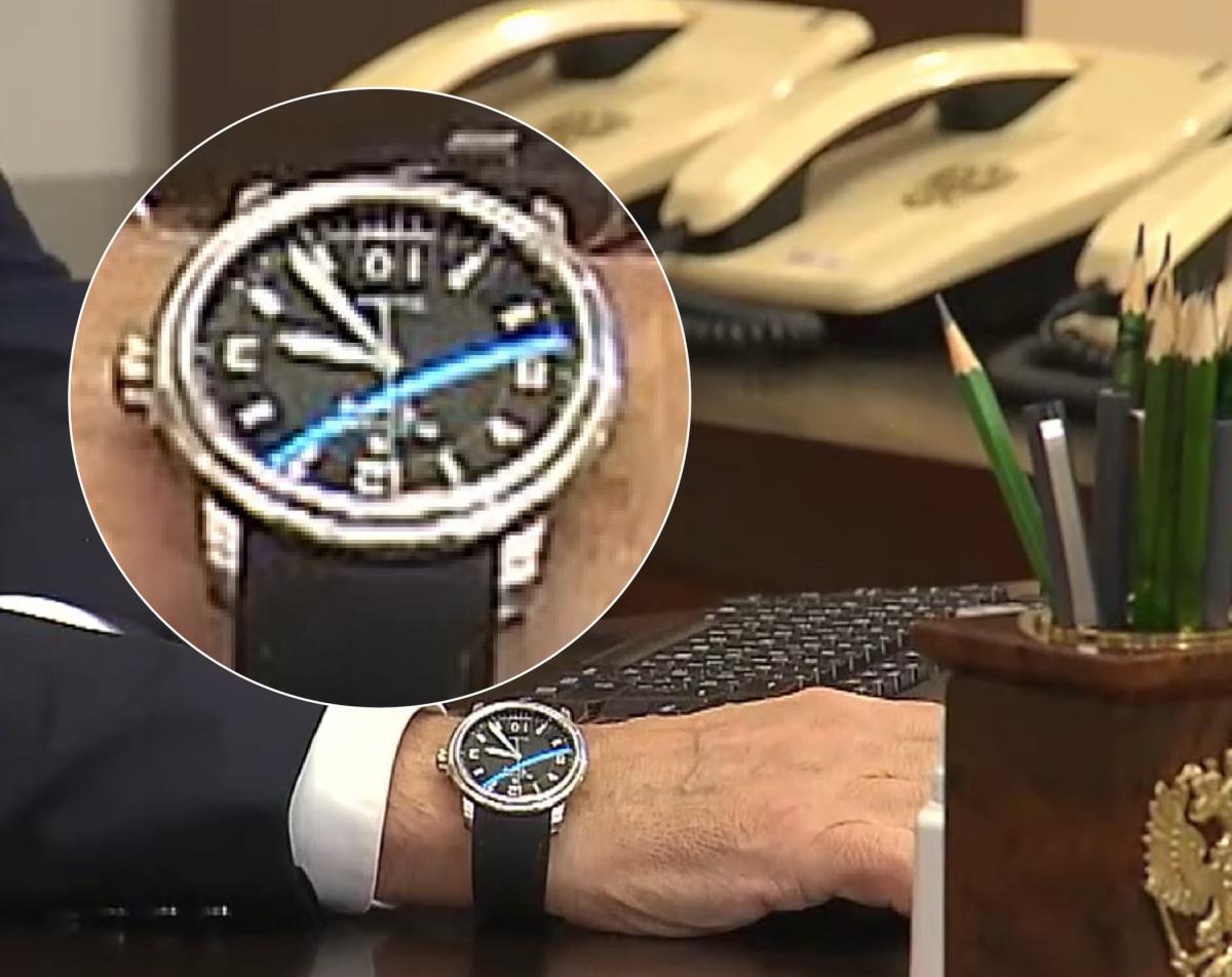 Putin's watch on September 17 showed the 10th number / photo facebook.com/currenttimetv