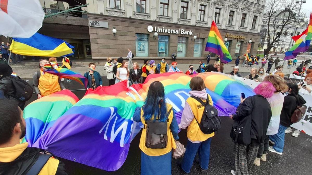 Организаторы Марша равенства в Киеве насчитали 7 тысяч участников мероприятия, а полиция – 2,5 тыс. / фото УНИАН/Дмитрий Хилюк