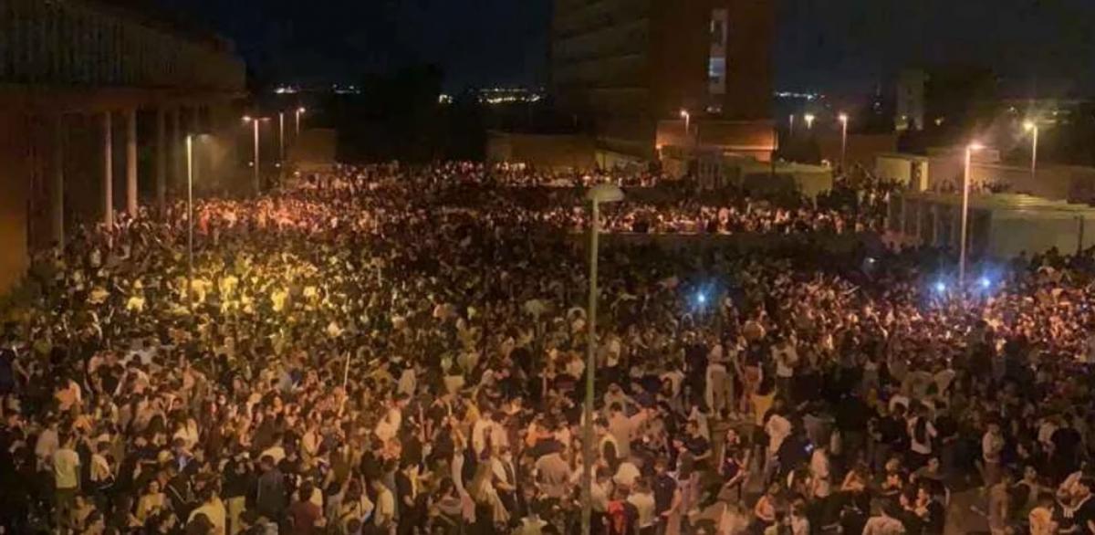 В Испании состоялась грандиозная алко-вечеринка / Скриншот с видео