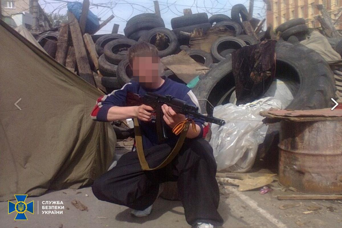 Житель Станиці Луганської у квітні 2014 року приєднався до проросійських збройних угруповань / фото СБУ