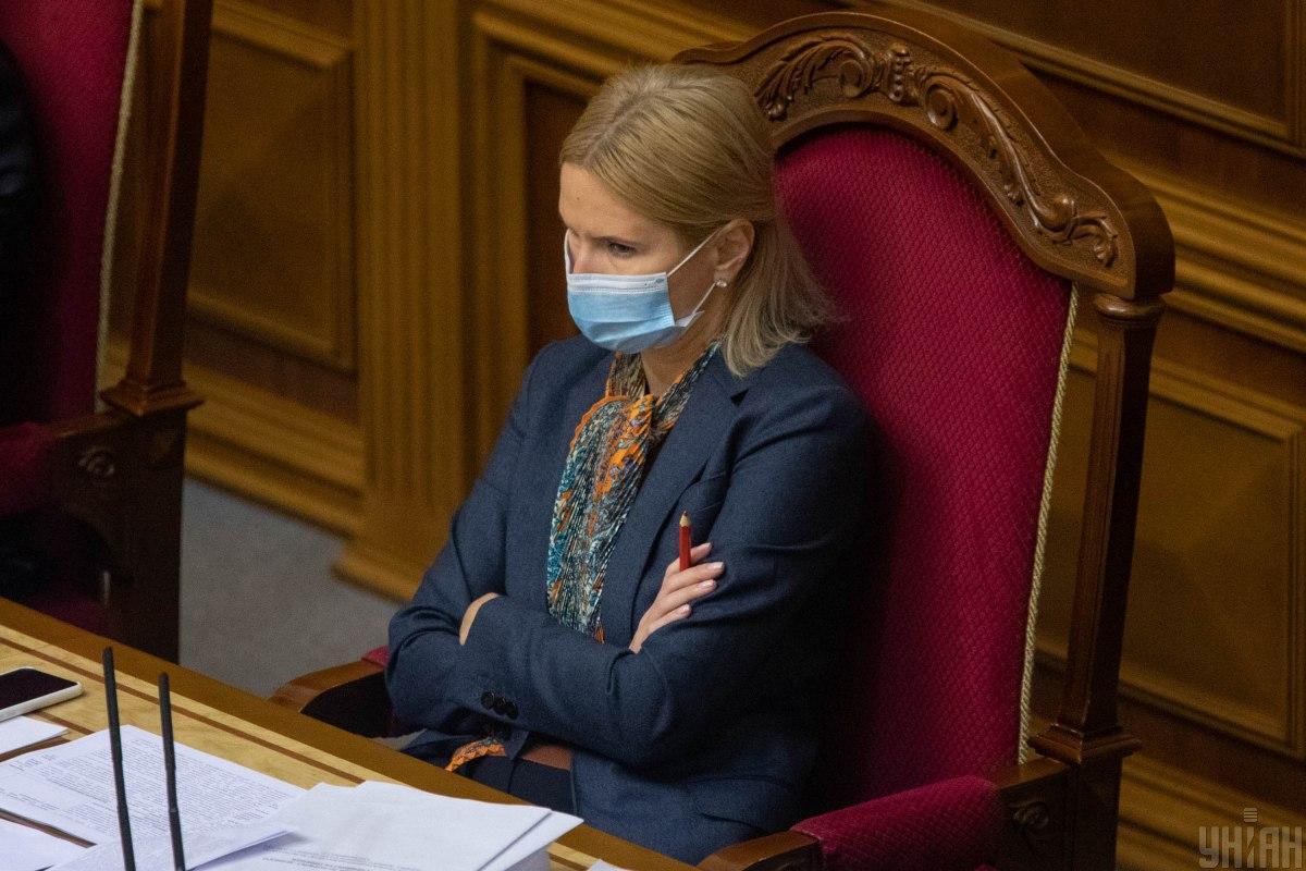 Олена Кондратюк запропонувала допускати до роботи в Раді тільки вакцинованих нардепів / фото УНІАН