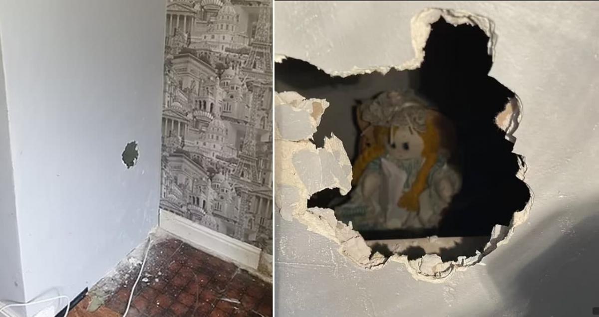 Британець знайшов дивну ляльку в стіні / фото Lshot
