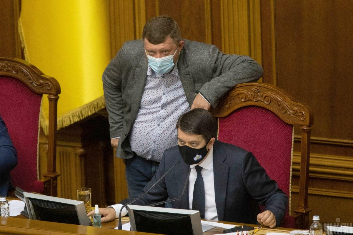 Александр Корниенко и Дмитрий Разумков / фото УНИАН, Александр Кузьмин