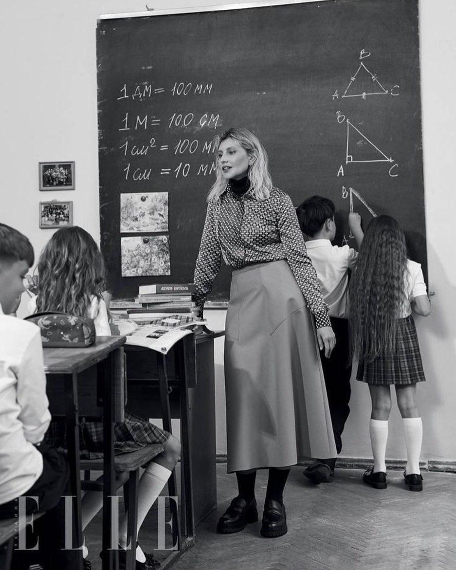 Олена Зеленська в образі вчительки / instagram.com/uafirstlady