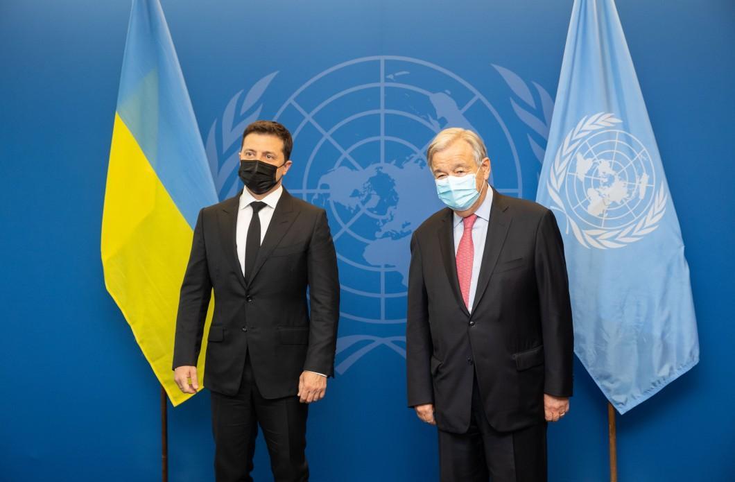 Зеленский встретился с генсеком ООН Антониу Гутерришем \ president.gov.ua