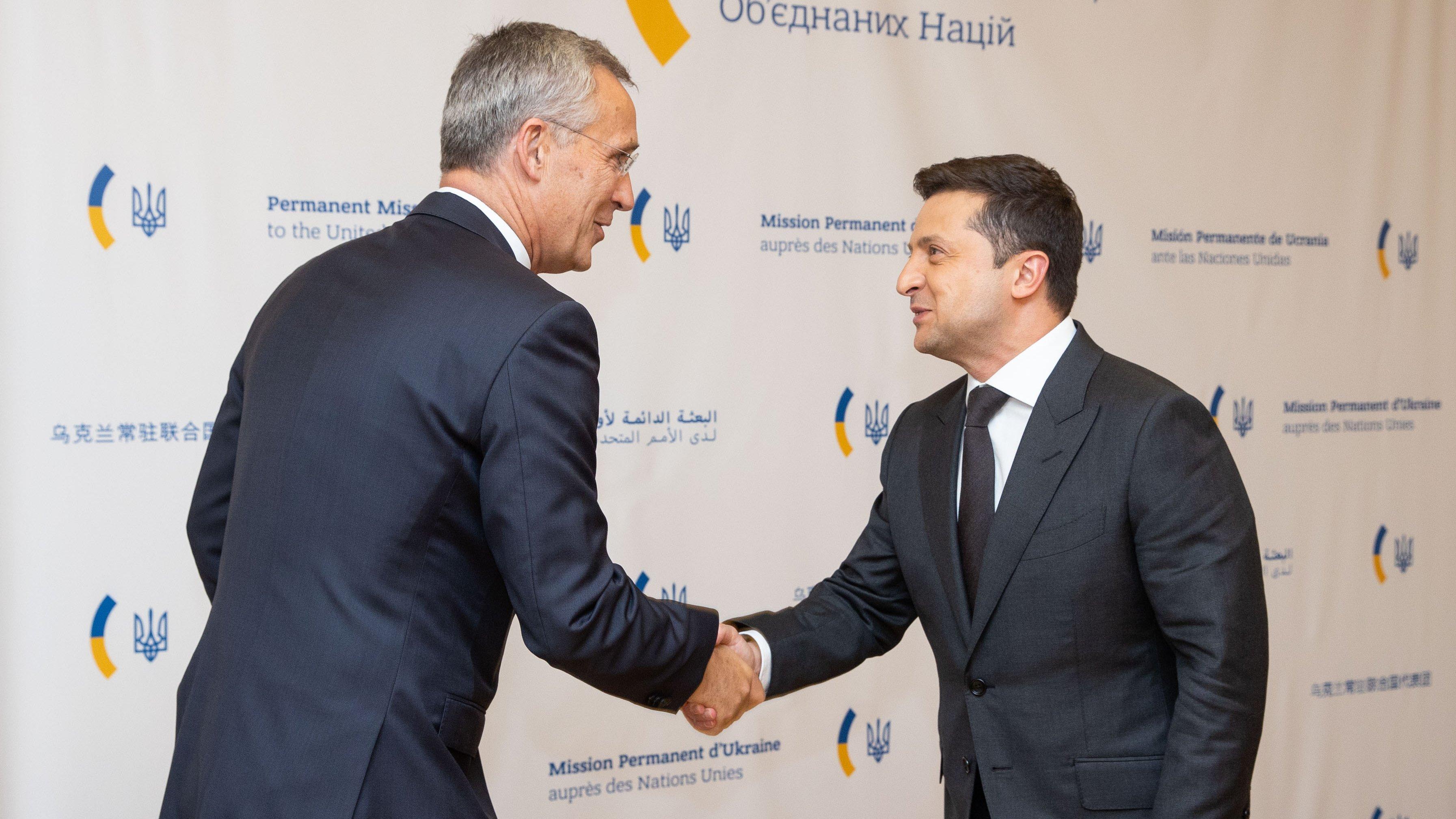 Зеленський зустрівся з генсеком НАТО у США/ фото Зеленський/Twitter