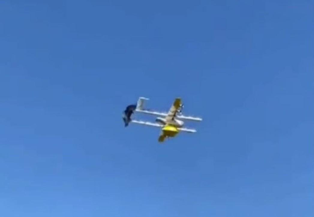 В Австралії ворон напав на дрон-посильного/ скріншот