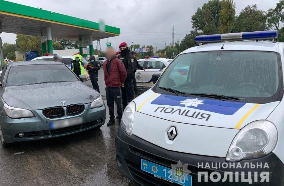 Автомобиль, на котором скрылся преступник, задержали в Кременчуге / фото полиция Полтавщины