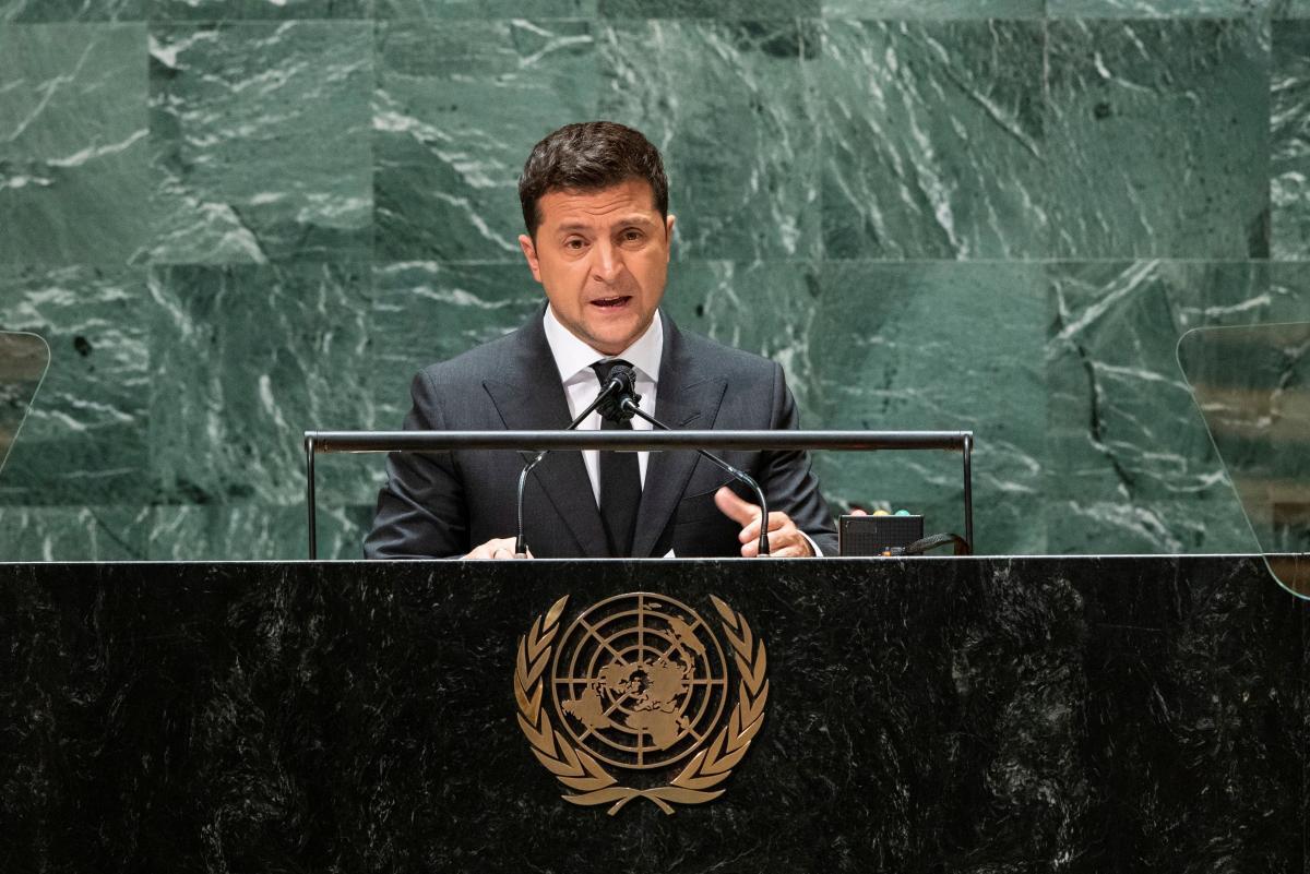 ВолодимирЗеленський виступивна Генасамблеї ООН/ фото REUTERS