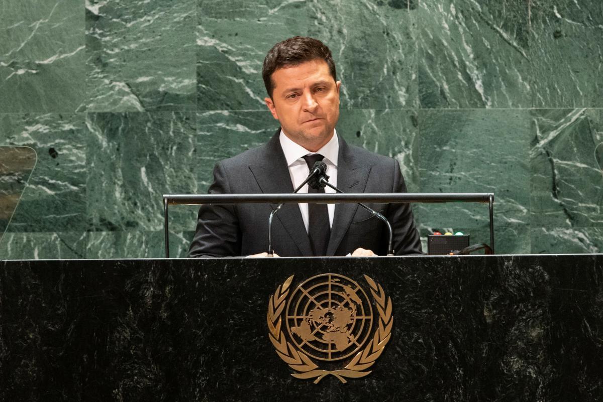 Владимир Зеленский выступил с трибуны Генеральной Ассамблеи ООН / фото REUTERS