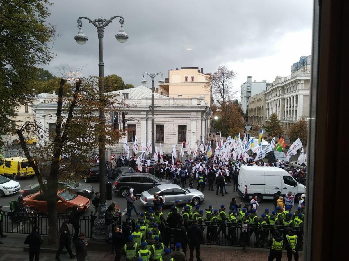Произошлистолкновения между полицейскими и участниками акций / фото УНИАН, Надя Пришляк