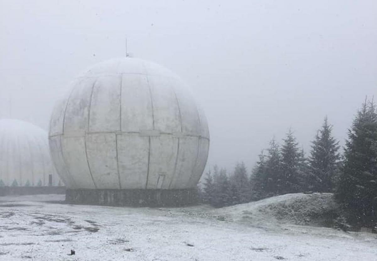 У Чернівецькій області випав перший сніг / фото Міка Слусаряк, Facebook