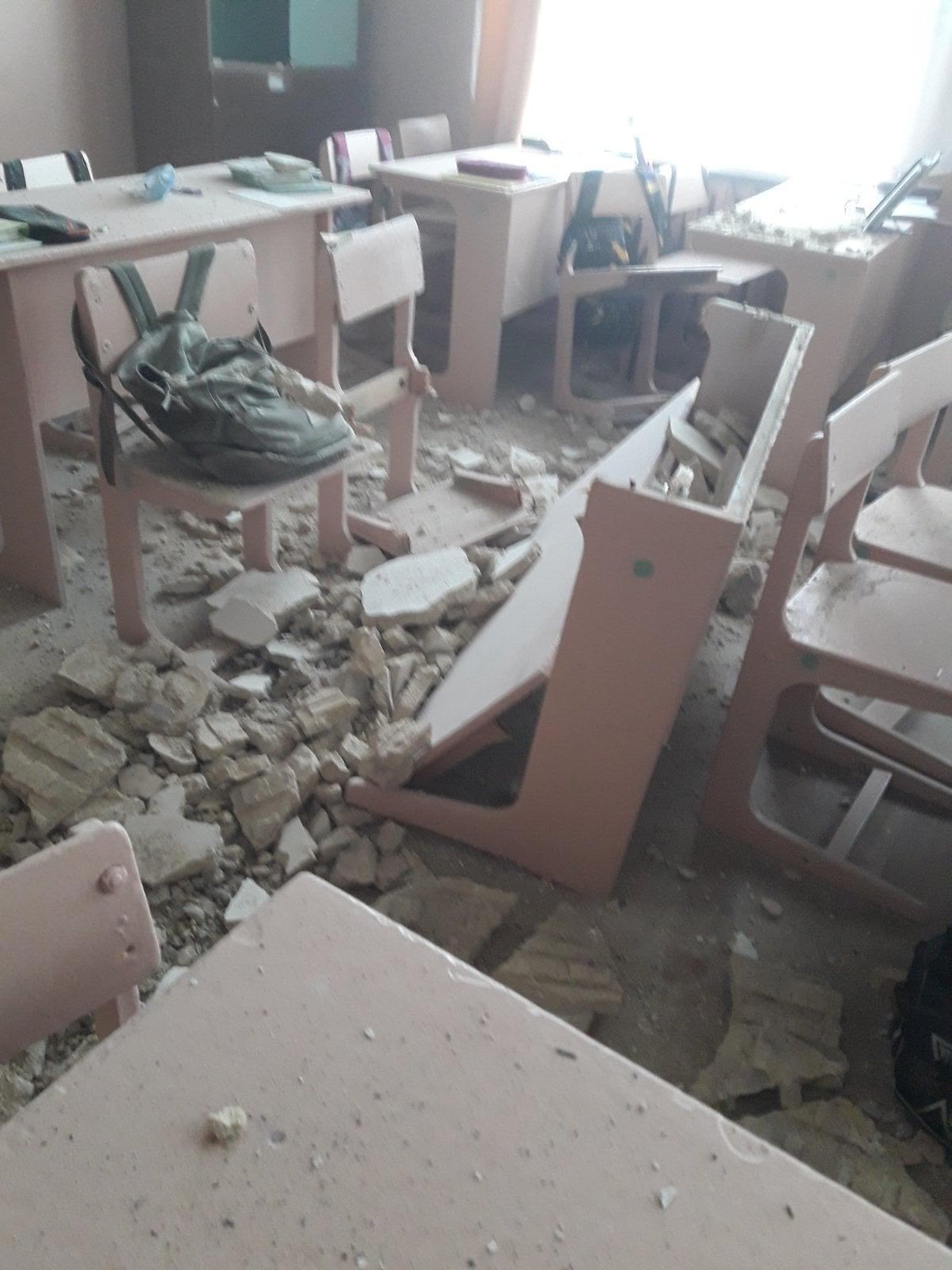 В одному з класів обвалилася стеля \ Новгород-Сіверська міська територіальна громада